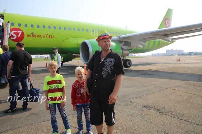 На пути домой. Самолет Новосибирск-Иркутск