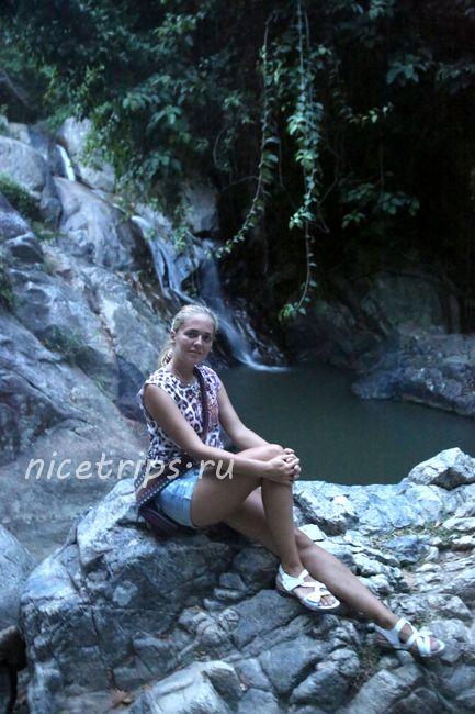 Водопад Намуанг 2 вечером