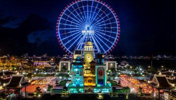 Парк развлечений в Дананге и колесо обозрения