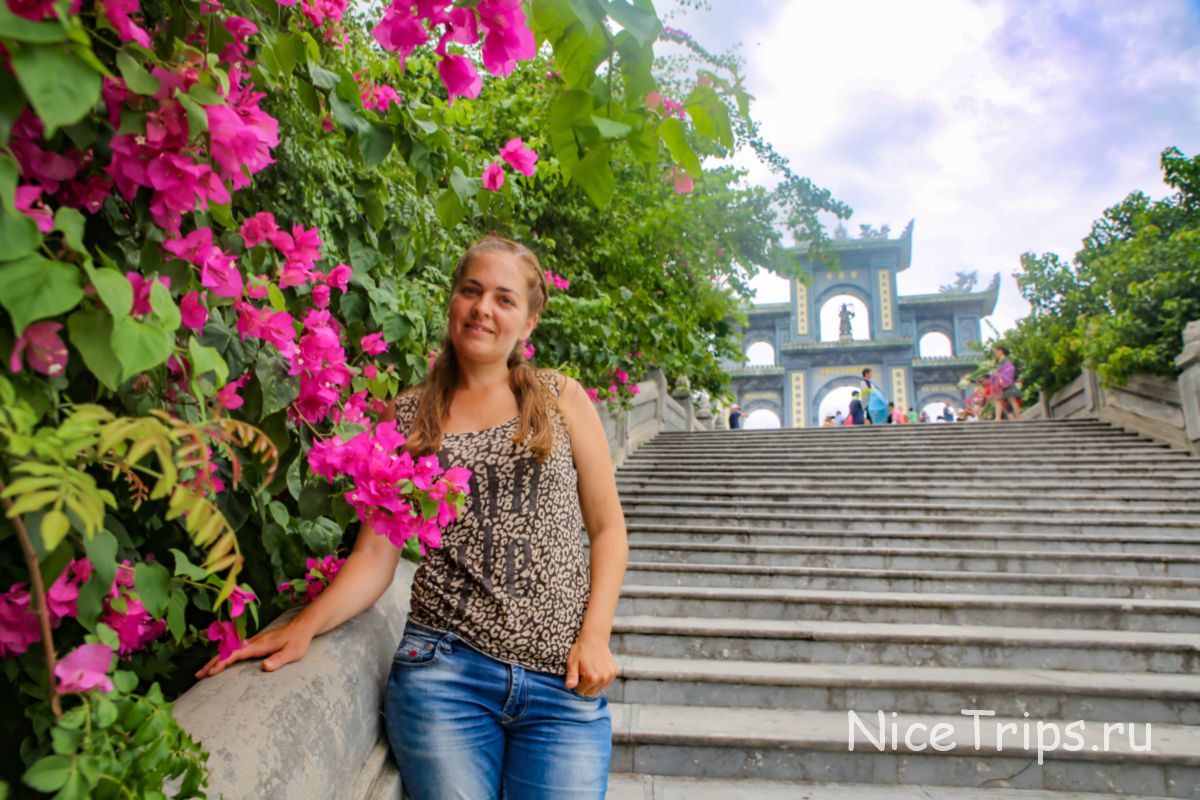 фото на входе к пагоде Линь Унг