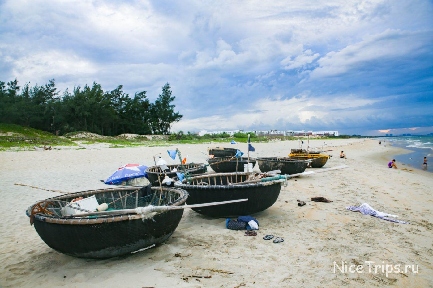 круглые вьетнамские лодки