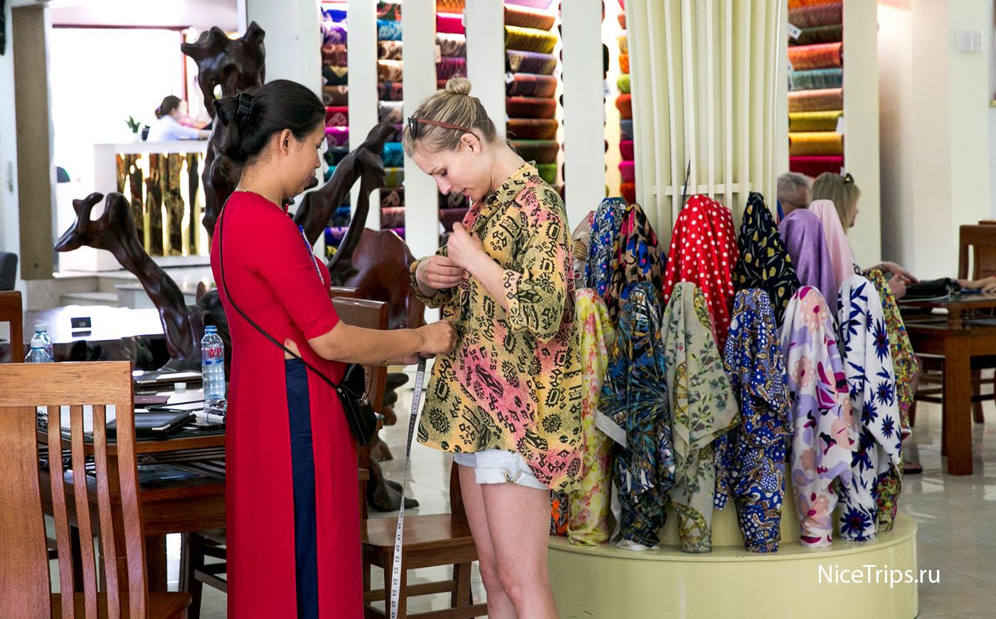 Пошив платья в Хойане