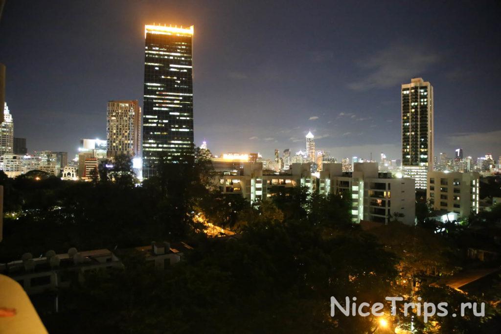 вид из отеля Pantip suites bangkok
