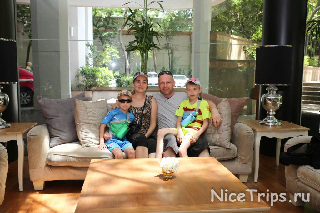 Холл отеля Pantip suites bangkok